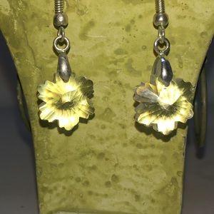 Snowflake dangle earrings